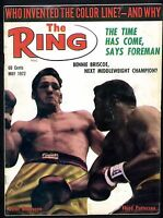 THE RING BOXING MAGAZINE MAY 1972 FLOYD PATTERSON-OSCAR BONAVENA