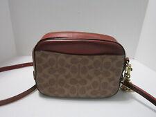 Coach Purse Handbag 31208 Camera Bag In Signature Canvas Crossbody In Brown