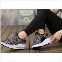 New Breathable Womens Shape Ups Toning Fitness Walking Comfort Shoes Sneakers sz