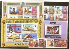 LOT UGANDA TIMBRES NEUFS** THEMES RELIGION EGLISE CROIX ECT...COTE €18