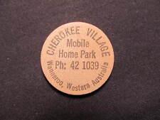 Wanneroo, Western Australia Wooden Nickel token - Cherokee Village Wooden coin