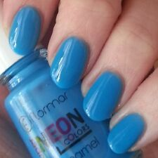 Flormar Super Neon Colours Nail Enamel - #N002 - Neon Blue.