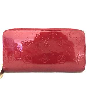Louis Vuitton Vernis Enamel Patent Leather Zippy Zip Around Long Wallet /E1108