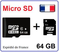 Carte Mémoire Micro SD 64 GO GB REEL Class 10 PLEINE CAPACITÉ