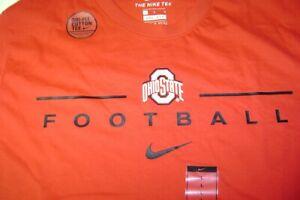 OHIO STATE BUCKEYES FOOTBALL TRAINING SHIRT RED NIKE DRI - FIT MEN 2XL NEW $30