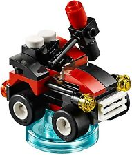 Lego Dimensions Joker's Chopper and Harley's Quinn-mobile. Toy Tags.