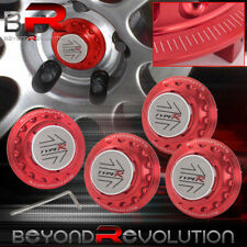 4 Pcs Universal JDM Center Cap Red Type-R Sport Style Lock Hub Motorsport VIP