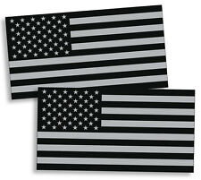 Black and Gray USA Flag Sticker American Grunge Military US Vinyl Decal Subdued