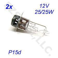 2x HEADLIGHT BULB 12V 25/25W P15d SCOOTER ATV GO KART 50-150CC HI LOW TAOTAO JCL