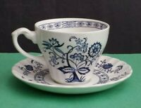 J. & G. Meakin England Blue Nordic Coffee Cup with Saucer Set