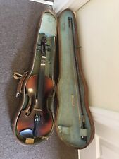 Vintage Violin & Bow In Hard Carry Case THIBOUVILLE LAMY Musical Instrument 🎻