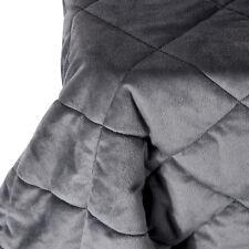 Tagesdecke Kuscheldecke Bettüberwurf Steppdecke Plaid Decke Dunkelgrau #1221