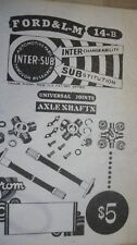 Vintage Ford & L-m 14 b Universal Joints Guide 1952 catalog