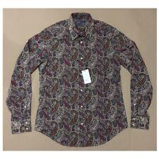 VINCE Men's Paisley Woven Shirt Retail $225 (NWT)