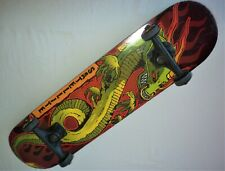 Satellite Skateboard Green Dragon with Flames 7.5� X 31� PreOwned Good Condition