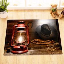 Western Cowboy Boot Lamps Home Decor Non-Slip Bathroom Mat Door Floor Rug Carpet