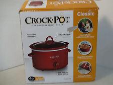 Crock Pot Classic 4 Qt Oval Slow Cooker Scv401-Tr (20984)
