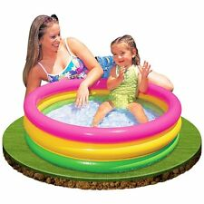 """Inflatable Swimming Pool 6.5"""" Deep Toddler Ages 1-3 Kids Children New Colorful"""