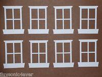 15 WHITE window pane die cuts