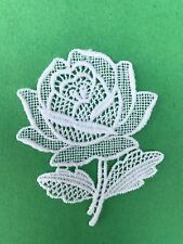Flowers - Rose - sew-on lace motif/appliqué/patch/craft/card making