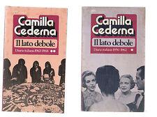 camilla cederna - il lato debole - 2 libri -