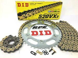 New DID VX3 520 Honda CBR600rr 2003-2006 Premium X-Ring Chain and JT Sprockets