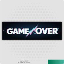 Game Over Slap Sticker JDM Drift Stance Jap Car Sticker Decal Gamer