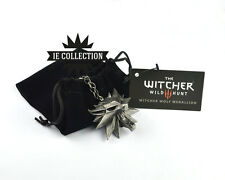 THE WITCHER 3 COLLANA MEDAGLIONE LUPO WILD HUNT Geralt di Rivia medallion ps4