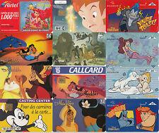 Disney & bande-dessinée téléphone cartes Fine Occasion Annonce multiple