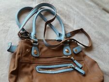 CHARMING CHARLIE Light BLUE and BROWN PURSE | LARGE | Multiple Straps