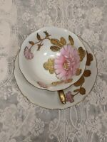 Occupied Japan Tashiro Toen Tea Cup And Saucer Hand Painted