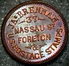 (1860's) J. BRENNAN NY630I/2A (R-5) STAMPS DEALER - NEW YORK CITY, NY