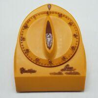 Vintage ORANGE Robertshaw Lux Minute Minder Kitchen Timer Model 1929-25 RARE