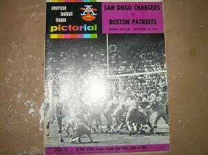 Vintage 1966 AFL Program San Diego Chargers vs. Boston Patriots September,10
