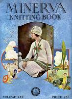 Minerva #22 c.1927 Vintage Instruction book of Prohibition Era Knitting Patterns