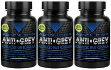 3X Absonutrix ANTI GREY Hair Catalase Gray Saw Palmetto 180 Capsules