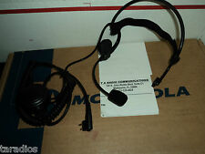 Tactical Behind The Head HEADSET Metal Flex Boom Mic LARGE PTT FOR ALL RADIOS !!
