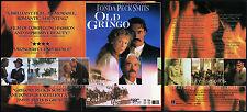 OLD GRINGO__Orig. 1990 Trade print AD promo__GREGORY PECK_JANE FONDA_JIMMY SMITS