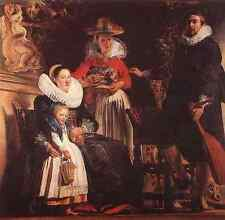 Jacob Jordaens The Family Of The Artist A4 Print