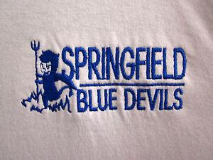 SPRINGFIELD BLUE DEVILS lrg T shirt Ohio longsleeves High School beat-up tee