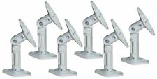 6 PC Set Pack Universal Wall Ceiling Satellite Speaker Mount Bracket White Bose