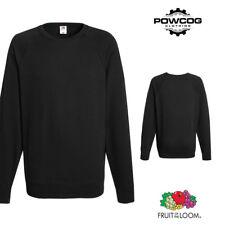 Fruit of The Loom Mens Plain Raglan Sweatshirt Jumper | 14 COLOURS | S - 2XL