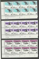 Ross Dependency 1972 Definitives 2nd Printing Plate Blocks of 8 VF UMM MNH