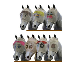 Crazy Face Funny Fly Mask Veil Full Horse Equine Equestrian Insect Protection