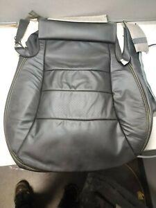 2009 Corvette Driver Side Black Leather Seat Bottom w/ Yellow Stitching New GM