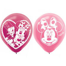 Minnie Mouse Party Supplies 30cm Latex Balloons - 6ct