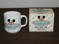 "VINTAGE 3 1/2"" HIGH DISNEY MICKEY MOUSE CLUB MUSICAL MUG NEW IN BOX"