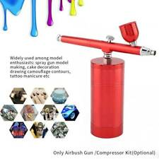 0.3mm Mini Action Air Brush Airbrush Kit Red Airbush Spray Gun Nail Paint Art