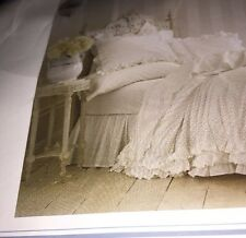 Simply Shabby CHIC bedskirt dust ruffle Twin Rachel Ashwell vintage cottage girl