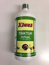 Klaus Tinktur für Geflügel 1 L Vitamine für Hühner Gänse Enten Fasanen und Puten